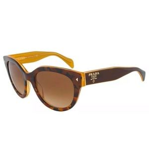 PRADA Sunglasses Crystal Havana on Gold